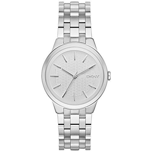 DKNY Reloj analogico para Mujer de Cuarzo con Correa en Acero Inoxidable NY2381