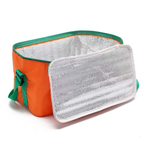 Sac D'isolation D'épaule léger Pique-Nique en Plein Air Paquet De Fruits De Mer Paquet Réfrigéré Congelé Déjeuner (Color : Orange, Size : 32 * 18 * 16cm)