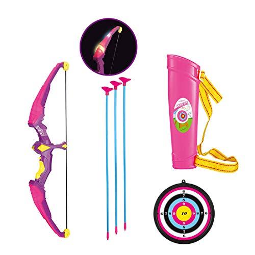 FADF Pfeilspiel im Freien Bogenschießset, Bogenschießset, Bogenschießset für Kinder, Bogen- und Pfeilset für Kinder mit Licht