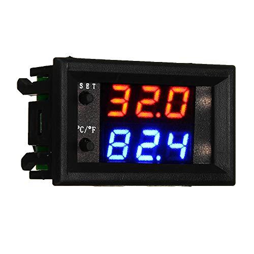 ILS - 3 stuks W2809 W1209WK DC12V digitale LED thermostaat temperatuurregelaar module Smart Temp Sensor Board met waterdichte NTC-sensor