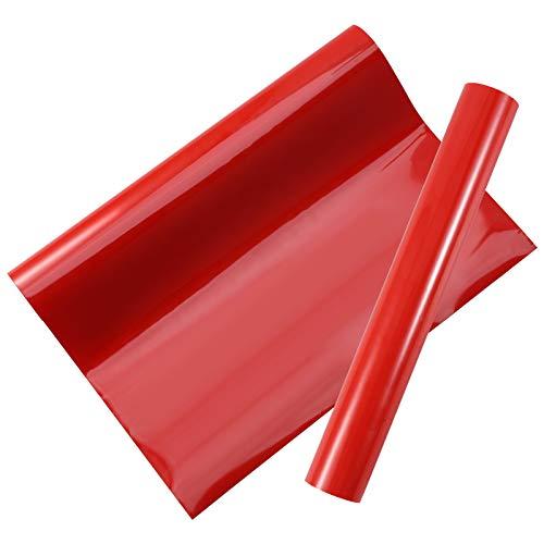 fanshiontide Vinilo Muebles Vinilo de Transferencia de Calor Papel Adhesivo para Muebles Vinilos Adhesivo Vinilo Permanente para Planchar 30 x 300 cm(Rojo)