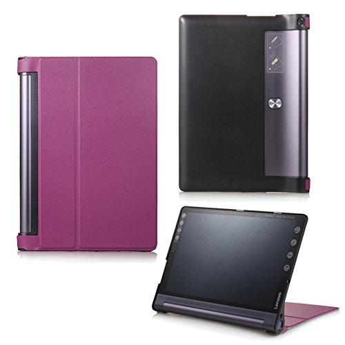 Funda para Lenovo Yoga Tab 310Plus YT-X703F/L y Lenovo Tab 310Pro YT3-X90F, funda inteligente con función Wake & Sleep, con lápiz táctil incluido morado morado