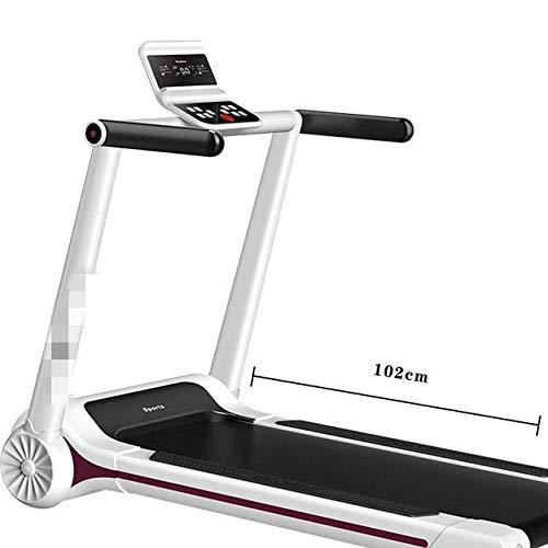 Zcm Fitnessgeräte Fabrik nach Hause elektrische Laufband schlanke Mini Gehmaschine Fitnessgeräte zu Hause Laufband Falten (Color : White)