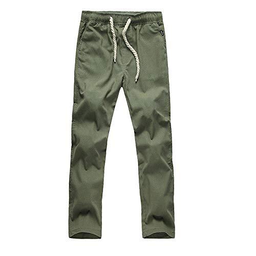 nobranded HerrenhoseModelle Japanische Baumwoll- und Leinenhose Mode Lose Spitze Lange Röhre Taille Freizeithose Große Größe Unifarben