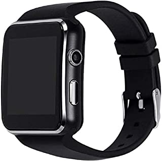 Adlyn Compatible with iOS iPhone Android, Waterproof A3 Bluetooth Smartwatch - Black