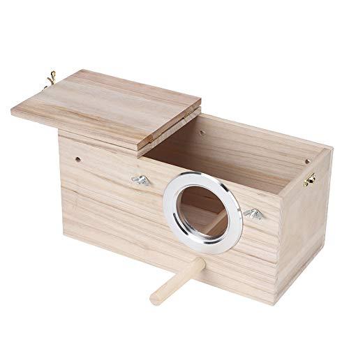Haokaini Holz Haltbare Vögel Nistkasten Nymphensittiche Vogelzucht Kasten Haus Dekoration