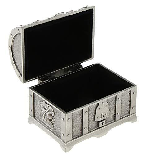 Baoblaze 1 Stück Schmuckschatulle Antik Metall Schmucktruhe Retro Schmuckschatulle Schmuck-Aufbewahrungsbox - Antikes Zinn