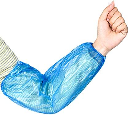 Pack of 100 Plastic Disposable Arm Sleeves Covers Protective Sleeves to Cover Arms Polyethylene product image