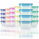 SCANDINOVIA - 25 oz Microwavable Food Storage Containers with specially designed rainbow lids - 24 Pieces - BPA Free - Dishwasher Safe - Freezer Safe - Makes Your Home Special