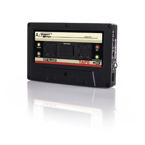 Reloop USB Mixtape Recorder with Retro Cassette Look, Black