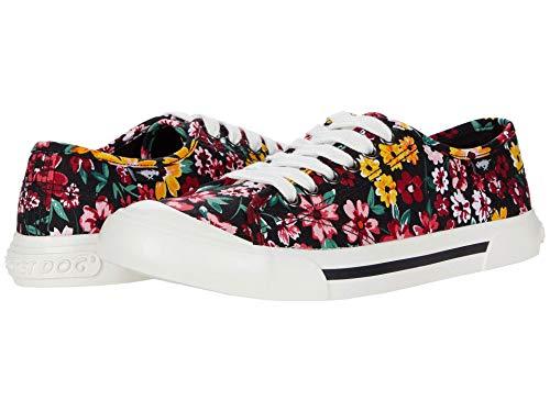 Rocket Dog Women s Jumpin Margate Floral Cotton Walking Shoe, Black, 9