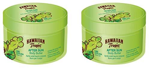 Hawaiian Tropic AfterSun Body Butter Lime Coolada - After Sun Body Cream mit Aroma Colada Lima, hypoallergene intensive Feuchtigkeitsformel, Packung 2 Einheiten x 200 ml