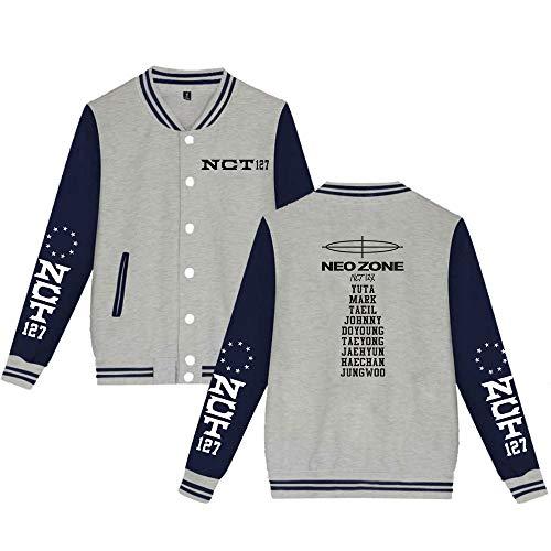 Landove NCT 127 Neo Zone Baseball Jacket Unisex Bomberjack Sweatjas