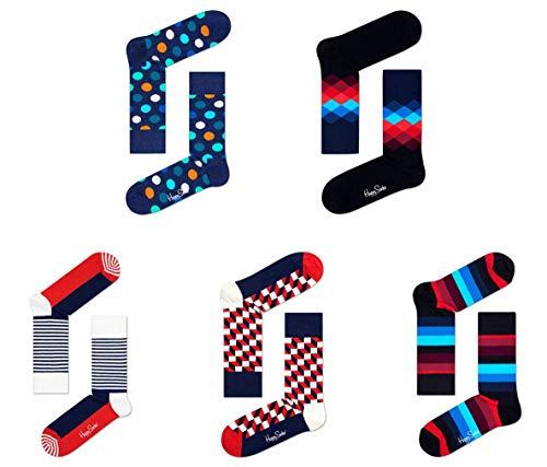 Happy Socks 5er A1 B&le verschiedene Farben, Mehrfarbig, 41-46