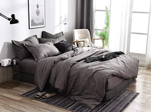 Nafarm Bettwäsche Set 3 teilig, kuschelige, weiche atmungsaktive Mikrofaser Ganzjahres Bettbezug Set - 135x200cm Bett Bezug und 2 mal 80x80cm Kopfkissen Bezüge mit Reißverschluss, tolle Muster