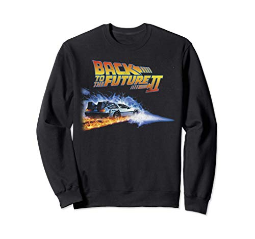 Back To the Future II Fire Trails Sweatshirt, Unisex, 4 Colors, S to 2XL