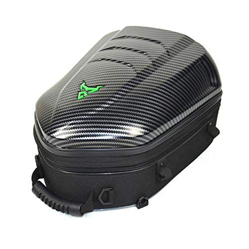 WQSFD Motorcycle Tail Bag Waterproof Hard Shell Backpack Scalable High Capacity Helmet luggage Storage Bag for Traveling Camping Cycling Storage Bag,Green