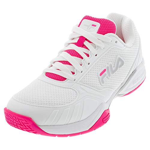 Fila Women's Volley Zone Pickleball Shoe (White/Knockout Pink/White, 7)
