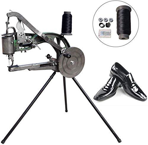 HUKOER Máquina de reparación de zapatos de bricolaje Máquina de coser de reparación de zapatos manual Máquina de reparación de zapatos de zapatero Máquina de coser de línea de nylon de algodón