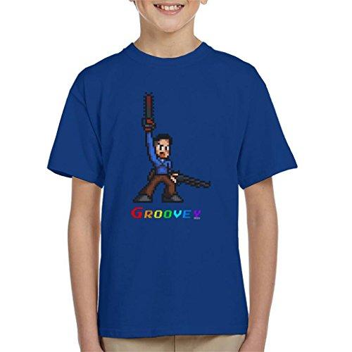 Ash Evil Dead Pixel Kettingzaag Kinder T-Shirt