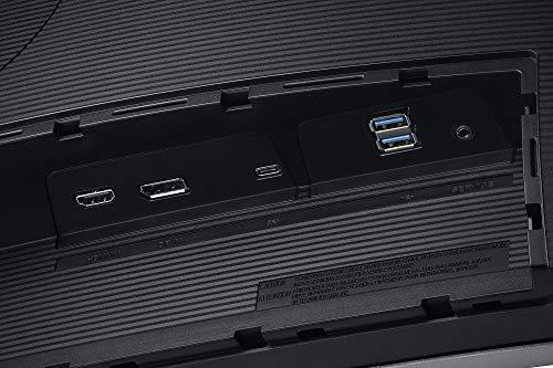 Samsung C34H892WJU 86,4 cm (34 Zoll) Premium Curved Monitor (HDMI, Display Port, USB Type-C, USB 3.0 HUB, 3,5 mm Audio, 4 ms Reaktionszeit (G/G)), dunkelsilber