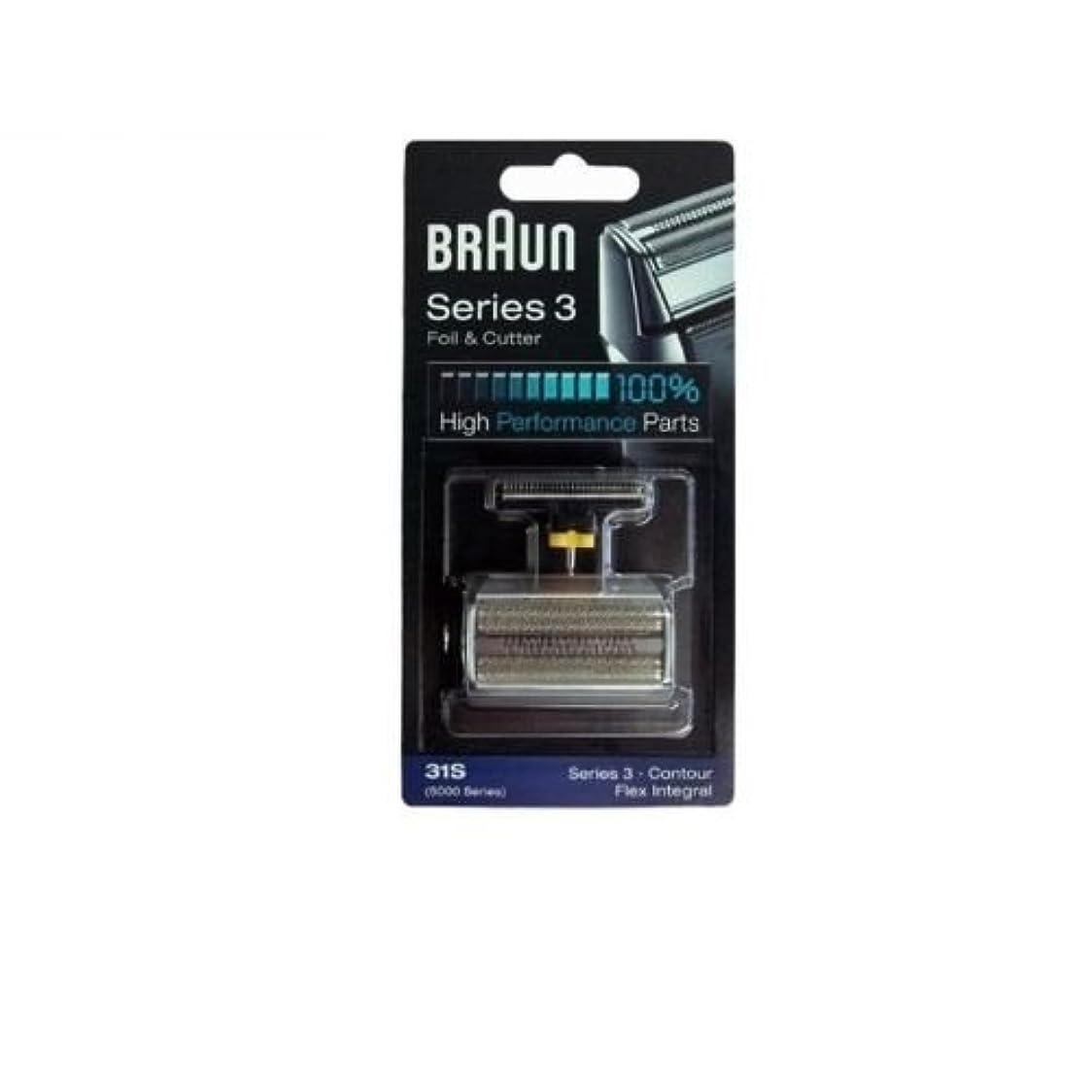 Braun 31S コンビ箔と(旧5000/6000)をカッターの交換パック [並行輸入品]
