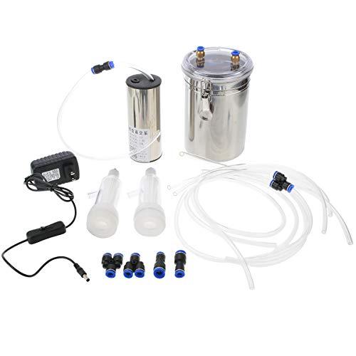 SISHUINIANHUA 110 V - 220 V Edelstahl Durable Vakuumpumpe Ziegenmelker Elektrische Schafmelkmaschine für Schafe