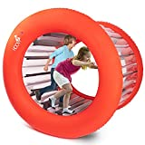 Hamster Wheel Human | Inflatable Rolling Wheel | Giant Inflatable Wheel | Outdoor Activities for Kids and Adults Families Playtime | Inflatable Outdoor Toys | Giant Inflatable Wheel 51' Diameter