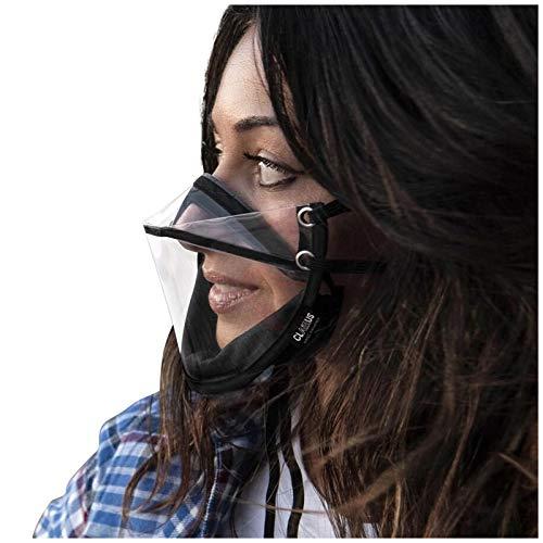 BEFOKA Clear Face_Shield Face Visor Transparent Face_Mask for Glasses Wearers (Black)
