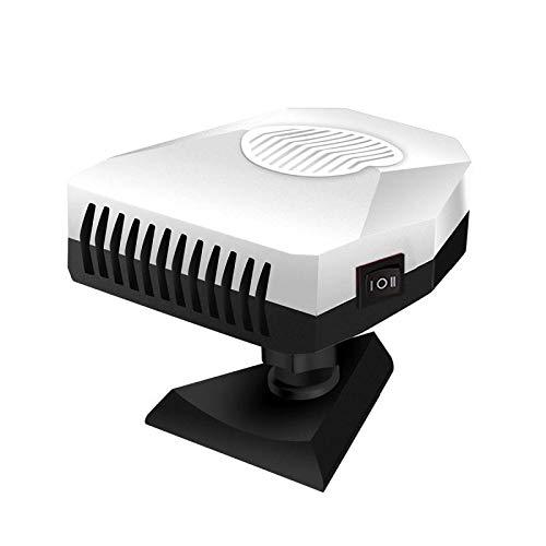 MUFENA Calentador de coche portátil de 12 V para coche, descongelador, descongelador, 3 tomas, termostato ajustable, enchufe en encendedor de cigarrillos