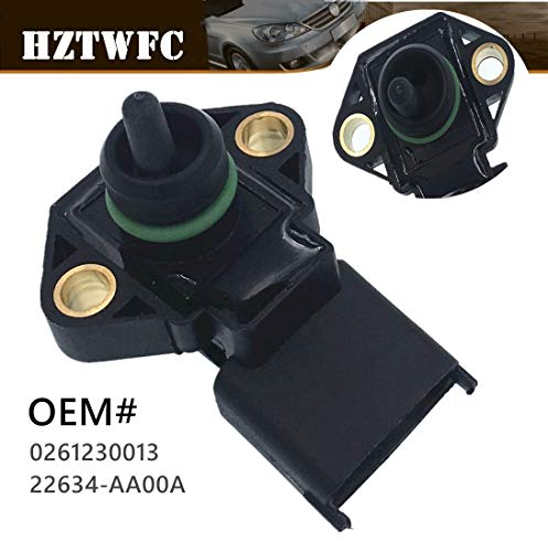 Price comparison product image HZTWFC 1BAR Manifold Absolute Pressure MAP Sensor 0261230013 22634-AA00A Compatible for Hyundai Accent X-3 - Subaru Forester Impreza Legacy 1.5 2.0