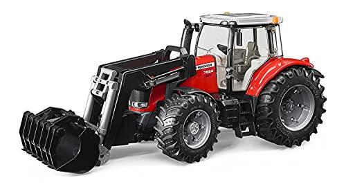 Bruder 3047 - Trator Massey Ferguson 7624 com Pá Dianteira