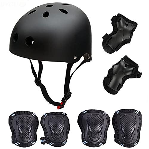 Casque de Kit de Protections 6 pièces Casque de BMX Pads Genouillères de coude avec des...