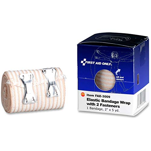 First Aid Only - FAE3009 Elastic Wrap Bandage with Fasteners, 2 x 5 yd Tan