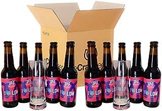 PACK DEGUSTACIÓN O REGALO - I LOVE LOW - 2.3% vol - BAJO CONTENIDO EN ALCOHOL - Pack cervezas artesanas (10 x 33cl + 2 vasos)