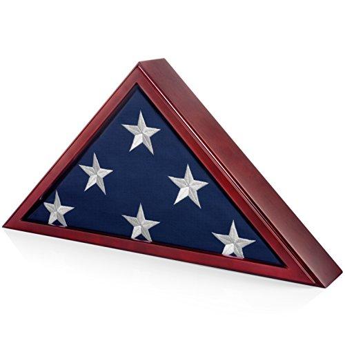 SmartChoice Flag Case for American Veteran Burial Flag 5x9 Feet (Mahogany)