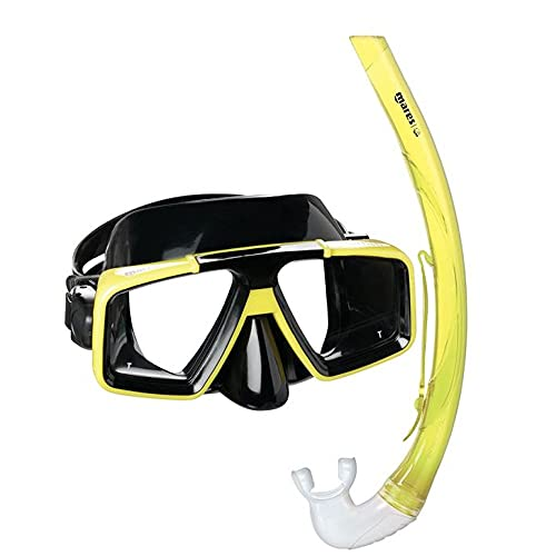 Mares Erwachsene Maske Plus Schnorchel Set Starfish 12 Tauchmaske, Yellow/Black, One Size