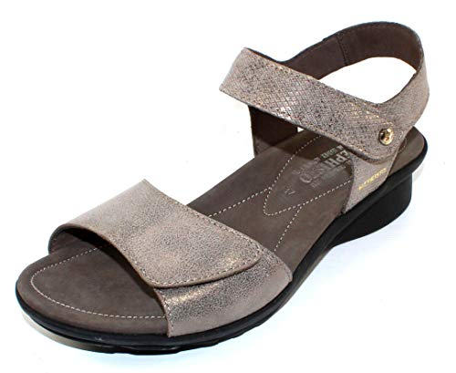 Mephisto Women's Ankle Strap Flat Sandal, Dark Taupe, 7
