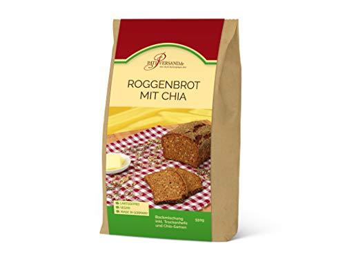 Backmischung Roggenbrot mit Chia-Samen 550g inkl. Hefe (7,25 €/ 1 kg)