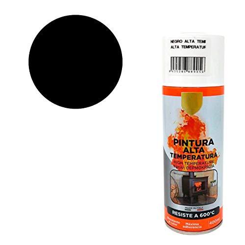 Pintura Spray Alta Temperatura Negro 400 Ml