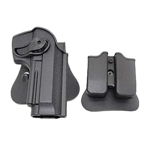 NO LOGO L-Yune, Serie Defense Polymer Retention Roto Holster Tactical Military Jagd Pistole Softair Gewehr-Kasten for Beretta M9 92 96 Holster (Farbe : Schwarz)