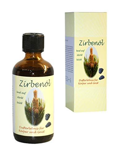 ZIRBENÖL 100prozent naturreines Dufterlebnis, Duftöl zur Raumbeduftung/Aromatherapie, Zirbelkieferöl als Raumduft/Aromadiffuser (100 ml)
