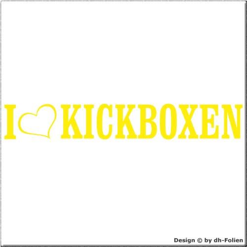 cartattoo4you AL-01099 | I LOVE (als Herz) KICKBOXEN | Autoaufkleber Aufkleber FARBE citrus , in 23 weiteren Farben erhältlich , glänzend 20 x 3 cm Waschstrassenfest Versandkostenfrei , Motiv Copyright by dh-Folien