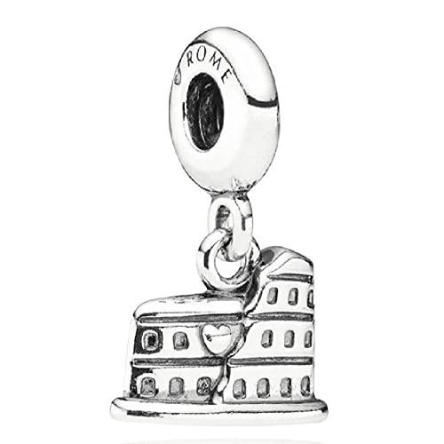 ZHANGCHEN 925 Plata-Plate Charm DIY Charm Colgante con Cuentas, para Hacer Hombres, Mujeres, Pulseras, Regalos de joyería, para la fabricación de Joyas de Pandora