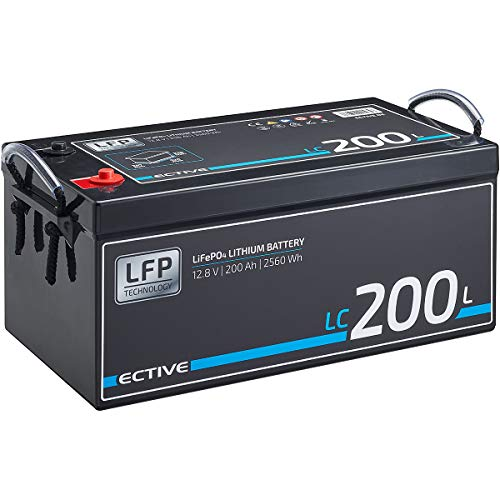 ECTIVE LC200L 12V 200Ah 2560Wh LiFePo4 Lithium-Eisenphosphat Versorgungs-Batterie mit BMS