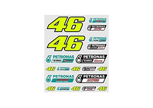 Valentino Rossi Vr46 Petronas 46 Yamaha Aufkleber, Unisex, Mehrfarbig, Einzigartig