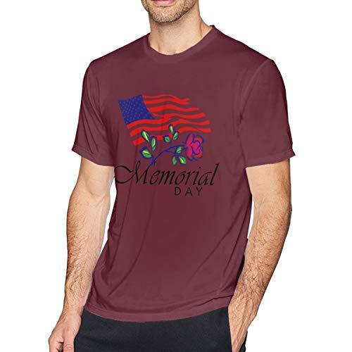 Preisvergleich Produktbild Musik Wir erinnern Uns an unsere Helden Memorial Day Bewegung Unisex DIY T-Shirt Burgund groß