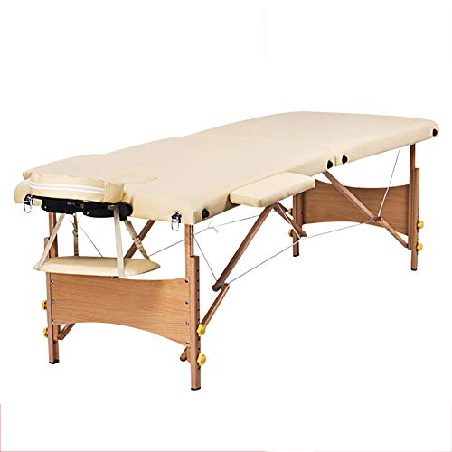 YZT QUEEN massagestoel, comfortabele, multifunctionele in hoogte verstelbare tweevoudig inklapbare massagetafel van hout met rugzak, geschikt voor schoonheid, tatoeage enz.
