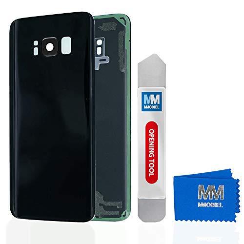 MMOBIEL Boîtier arrière de Remplacement avec Lentille caméra Compatible avec Samsung Galaxy S8 G950 5.8 Pouces (Noir Nuit)