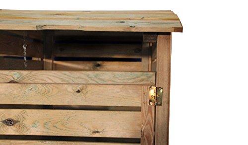 Mülltonnenbox aus Holz, Mülltonnenverkleidung – einfach (für eine Tonne bis 240 Liter), wetterfest und somit ideal für draußen / Outdoor geeignet - 3